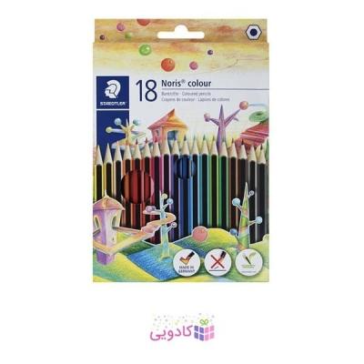 مداد رنگی 18 رنگ استدلر مدل Noris Colour 185 C18