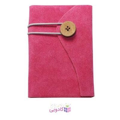 دفترچه یادداشت ژوست مدل دکمه ای قهوه ای