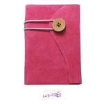 دفترچه یادداشت ژوست مدل دکمه ای صورتی
