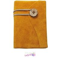 دفترچه یادداشت ژوست مدل دکمه ای خردلی