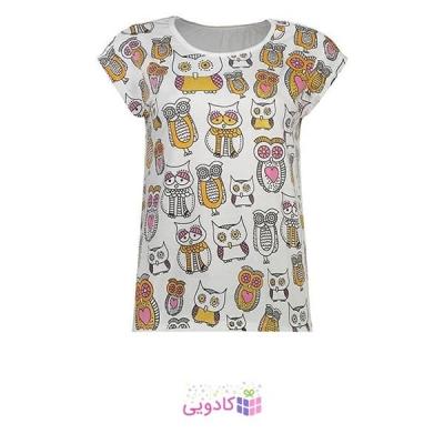 تی شرت زنانه طرح جغد کد 102