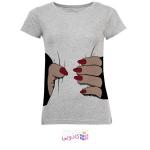 تی شرت آستین کوتاه زنانه طرح دست مدل S343