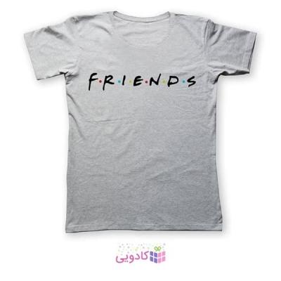 تی شرت زنانه طرح دوستان کد 487