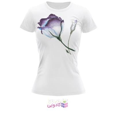 تیشرت زنانه طرح گل کد BS199
