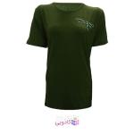 تیشرت آستین کوتاه زنانه طرح سنجاقک کد tm-850 رنگ سبز یشمی