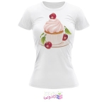 تیشرت زنانه طرح شیرینی کد BS281