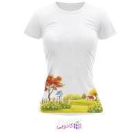 تیشرت زنانه طرح تابستان کد BS270