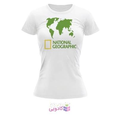 تیشرت زنانه طرح National Geographic کد BS320