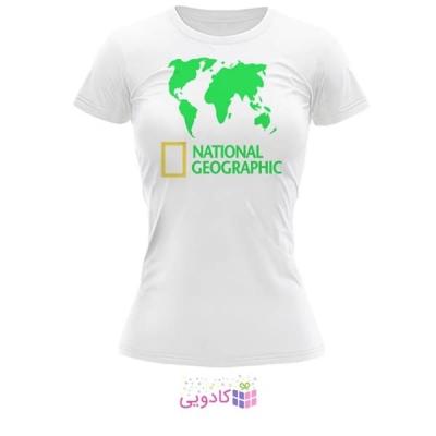 تیشرت زنانه طرح National Geographic کد BS319