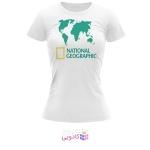 تیشرت زنانه طرح National Geographic کد BS318