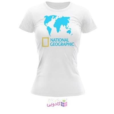 تیشرت زنانه طرح National Geographic کد BS317