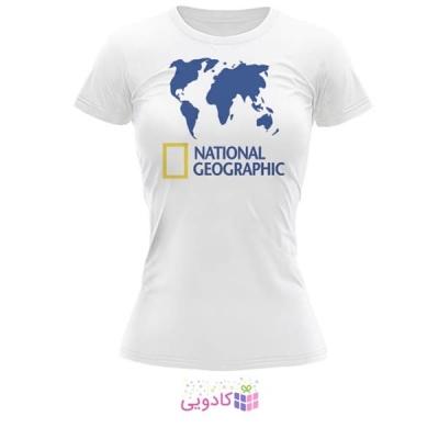 تیشرت زنانه طرح National Geographic کد BS316