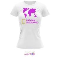 تیشرت زنانه طرح National Geographic کد BS315