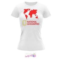 تیشرت زنانه طرح National Geographic کد BS314