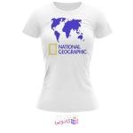 تیشرت زنانه طرح National Geographic کد BS313