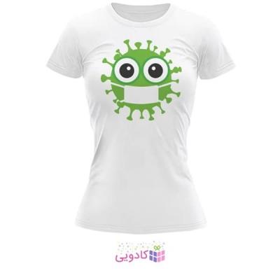 تیشرت زنانه طرح ویروس کد BS330