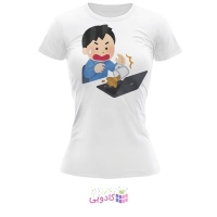 تیشرت زنانه طرح لپ تاپ کد BS336