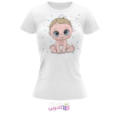 تیشرت زنانه طرح کودک کد BS334