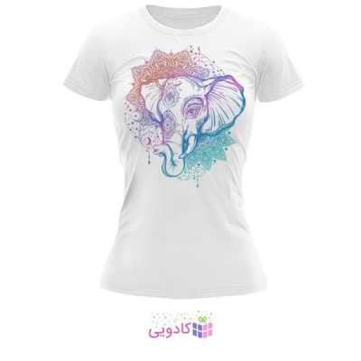 تیشرت زنانه طرح فیل کد BS349