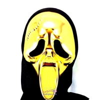 ماسک ترسناک جيغ طلايي