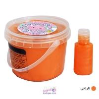 اسلایم با محلول جادویی نارنجی