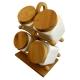 ست شکر، چای و قهوه 4 تکه ایستاده درب چوبی