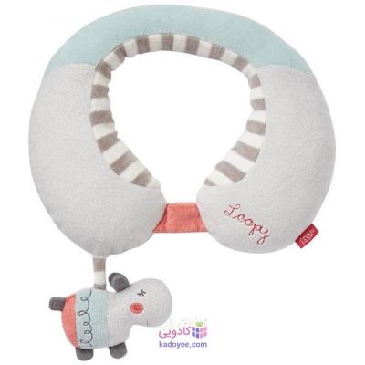 بالش محافظ گردن کودک با آویز جغجغه ای اسب آبی بیبی فن Babyfehn