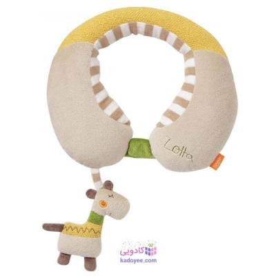 بالش محافظ گردن با آویز جغجغه ای زرافه بیبی فن Babyfehn