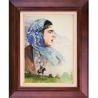 تابلو نقاشی دختر طبیعت