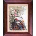 تابلو نقاشی کاسه سیب