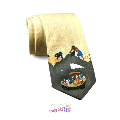 کراوات مردانه مینیاتور شاهنامه