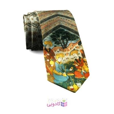 کراوات مردانه طرح مینیاتور عیش
