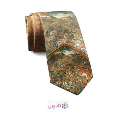 کراوات مردانه طرح مینیاتور نرد