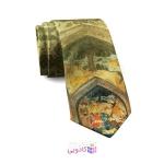 کراوات مردانه مینیاتور طرح محفل
