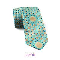 کراوات مردانه طرح کتیبه فیروزه