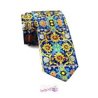 کراوات طرح کاشی زرد کبود