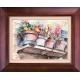 تابلو نقاشی طاقچه گلدان ها