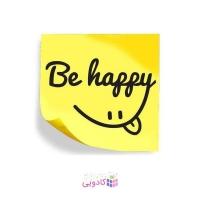 استیکر لپ تاپ طرح شادی کد E-211