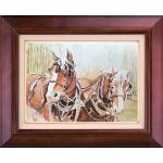 تابلو نقاشی اسب های مزرعه