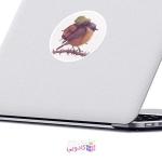 استیکر لپ تاپ ماسا دیزاین طرح پرنده