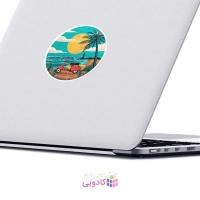 استیکر لپ تاپ ماسا دیزاین طرح پیراهن مدل STK698