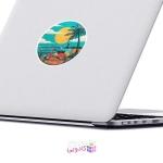 استیکر لپ تاپ ماسا دیزاین طرح ساحل