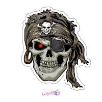 استیکر لپ تاپ طرح دزد دریایی