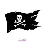 استیکر لپ تاپ طرح پرچم دزدان دریایی