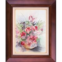 تابلو نقاشی ظرف گل