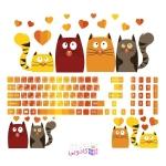 استیکر لپ تاپ طرح گربه