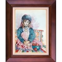تابلو نقاشی دختر ترکمن