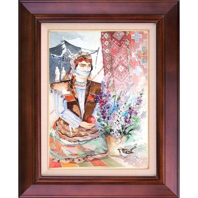 تابلو نقاشی دختر عشایر