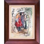تابلو نقاشی دختران روستا
