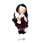 عروسک روسي پارچه اي دست ساز مدل R.gol giso